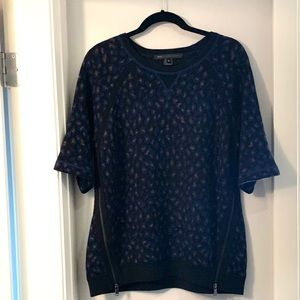 Marc By Marc Jacobs Short Sleeved Navy Sweater